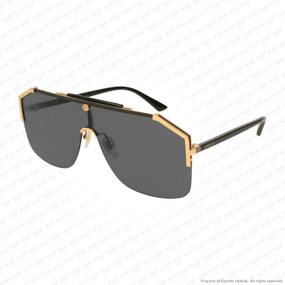 Gucci - Gg0291S Black & Gold/grey (001) Sunglasses