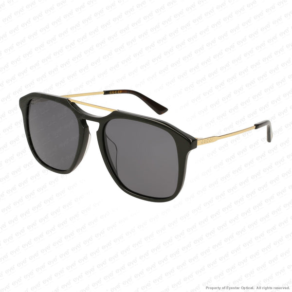 Gucci - Gg0321S Black & Gold/grey (001) Sunglasses