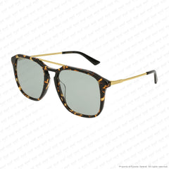 Gucci - Gg0321S Havana & Gold/green (004) Sunglasses