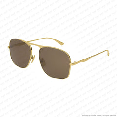 Gucci - Gg0335S Gold/brown (001) Sunglasses