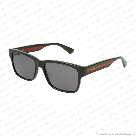 Gucci - Gg0340S Black Green Red/grey (006) Sunglasses