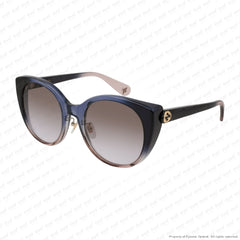 Gucci - Gg0369S Blue Havana Fade/brown Double Gradient (004) Sunglasses