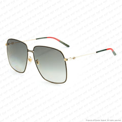 Gucci - Gg0394S Black & Gold/grey Gradient (001) Sunglasses
