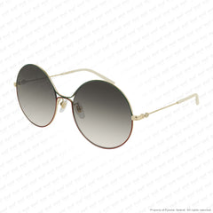 Gucci - Gg0395S Gold Green Red/brown Gradient (003) Sunglasses