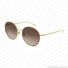 Gucci - Gg0401Sk Gold & Red/brown Gradient (002) Sunglasses