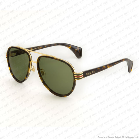 Gucci - Gg0447S Havana/green (004) Sunglasses