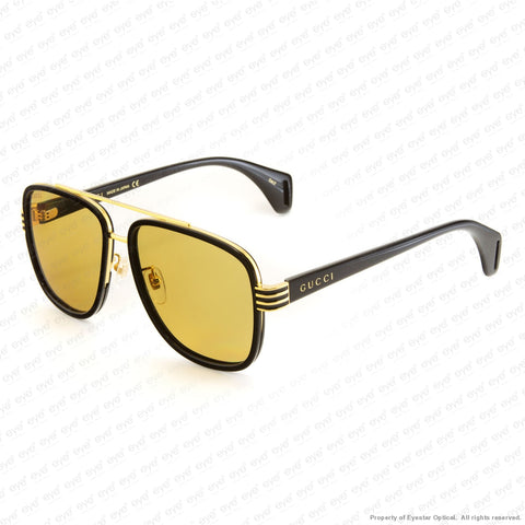 Gucci - Gg0448S Black/brown (002) Sunglasses