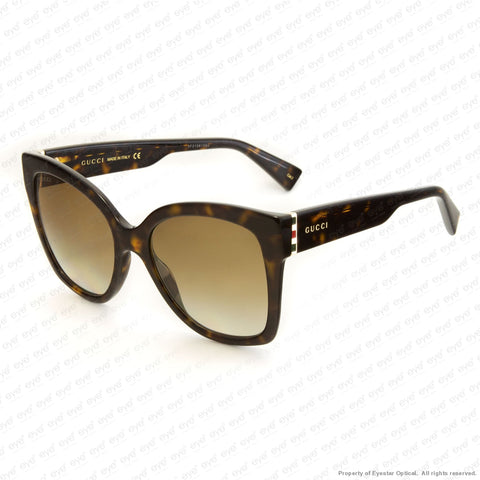 Gucci - Gg0459S Havana/brown Gradient (002) Sunglasses