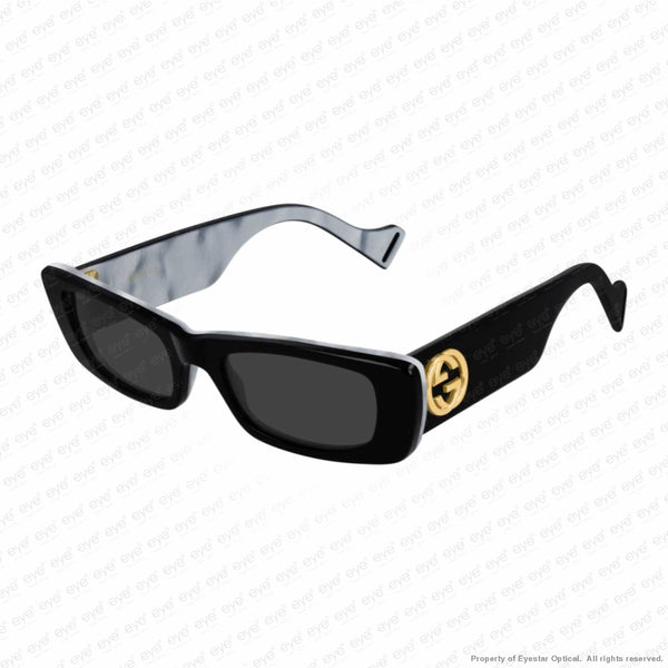 Gucci - Gg0516S Black & Mother Of Pearl/grey (001) Sunglasses