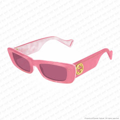 Gucci - Gg0516S Pink & Mother Of Pearl/red (003) Sunglasses