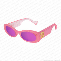 Gucci - Gg0517S Pink/double Pink Mirror (003) Sunglasses