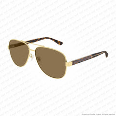Gucci - Gg0528S Gold & Havana/brown (008) Sunglasses