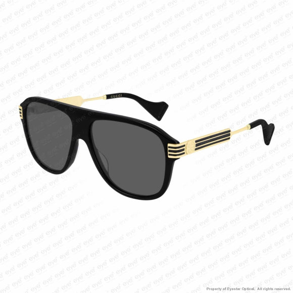 Gucci - Gg0587S Black & Gold/grey (001) Sunglasses