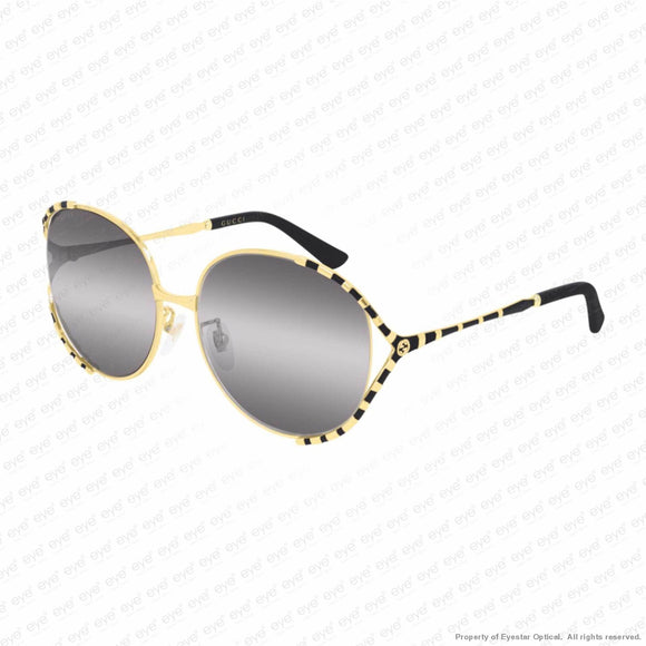 Gucci - Gg0595S Gold/double Grey Gradient (001) / 59-17-135 Sunglasses