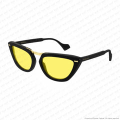 Gucci - Gg0616S Black/yellow (002) Sunglasses