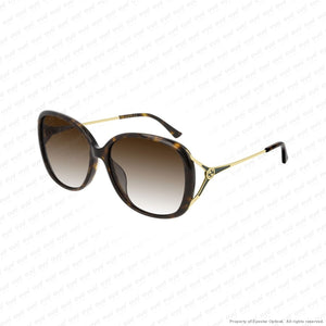Gucci - Gg0649Sk Gold Havana/brown (003) Sunglasses