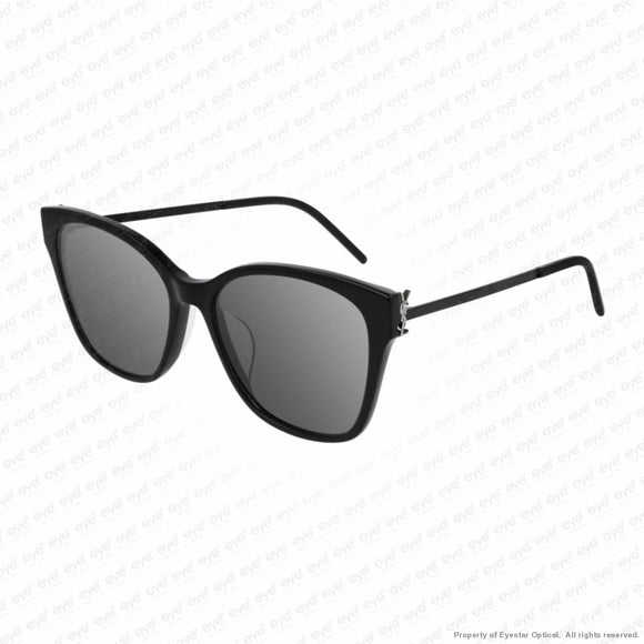 Saint Laurent - Sl M48S/k Black/silver Mirror (003) Sunglasses
