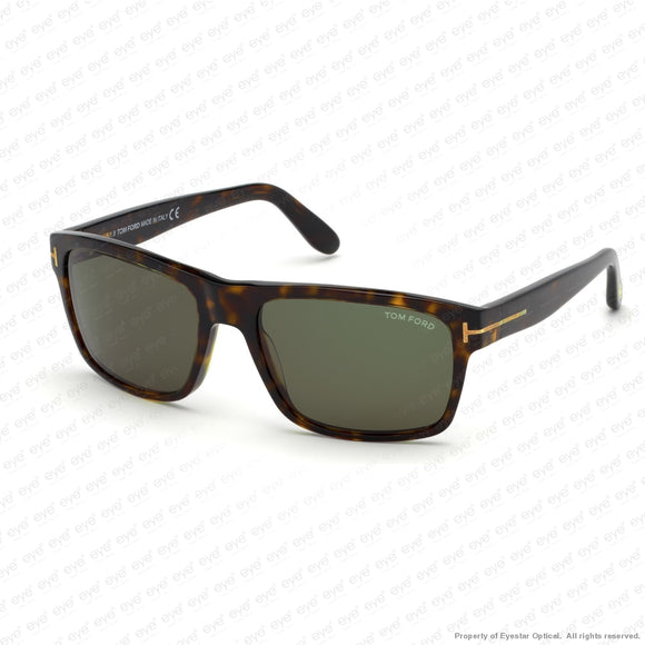Tom Ford - August Ft0678 Dark Havana/ Green (52N) Sunglasses
