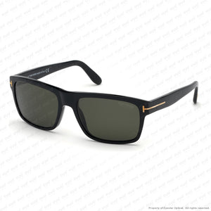 Tom Ford - August Ft0678 Shiny Black/polarized Smoke (01D) Sunglasses