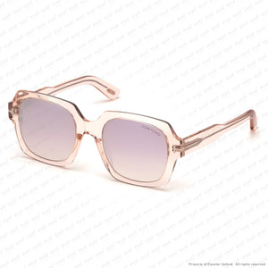 Tom Ford - Autumn Ft0660 Shiny Black/smoke Gradient Silver Flash (01C) Sunglasses