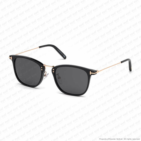 Tom Ford - Beau Ft0672 Shiny Black & Rose Gold/smoke (01A) Sunglasses
