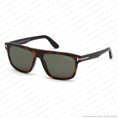 Tom Ford - Cecilio Ft0628 Dark Havana/green (52N) Sunglasses