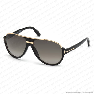 Tom Ford - Dimitry Ft0334 Black & Rose Gold/green Smoke Gradient (01P) Sunglasses