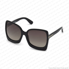 Tom Ford - Emanuella Ft0618 Shiny Black/roviex Gradient (01K) Sunglasses