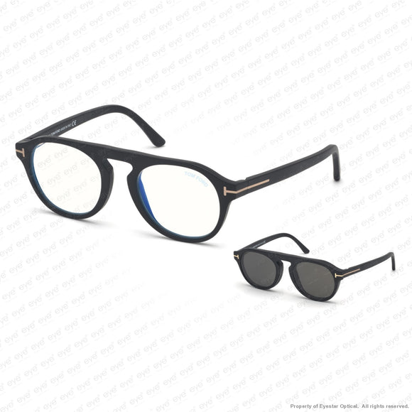 Tom Ford - Ft5533-B Matte Black Blue/smoke Clip-On (02A) Sunglasses