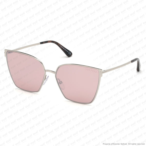 Tom Ford - Helena Ft0653 Palladium/pink Silver Flash (16Z) Sunglasses