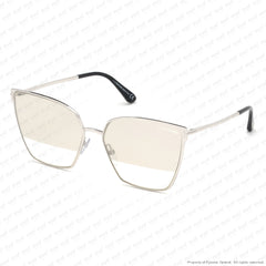 Tom Ford - Helena Ft0653 Rhodium/smoke To Clear Gold Flash (18C) Sunglasses