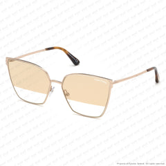 Tom Ford - Helena Ft0653 Rose Gold/smoke To Clear Gold Flash (28B) Sunglasses