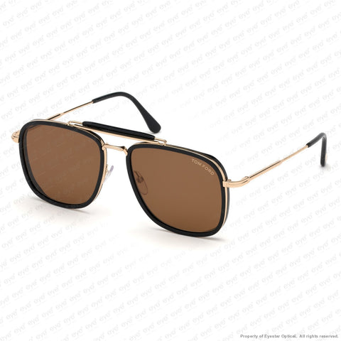 Tom Ford - Huck Ft0665 Black Rose Gold/brown (01E) Sunglasses