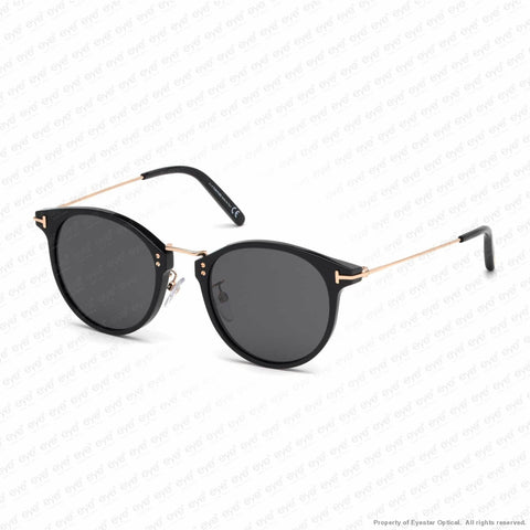 Tom Ford - Jamieson Ft0673 Black & Rose Gold/smoke (01A) Sunglasses