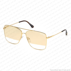 Tom Ford - Magnus Ft0651 Gold/smoke To Clear Gold Flash (30C) Sunglasses