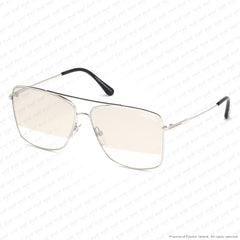 Tom Ford - Magnus Ft0651 Rhodium/smoke To Clear Silver Flash (18C) Sunglasses