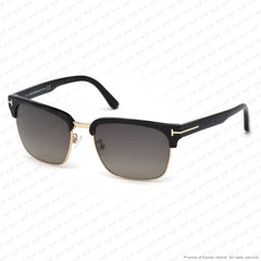 Tom Ford - River Ft0367 Black & Rose Gold/polarized Grey Gradient (01D) Sunglasses
