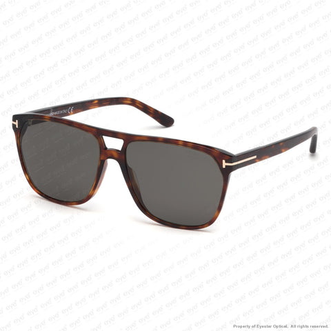 Tom Ford - Shelton Ft0679 Red Havana/polarized Smoke (54D) Sunglasses