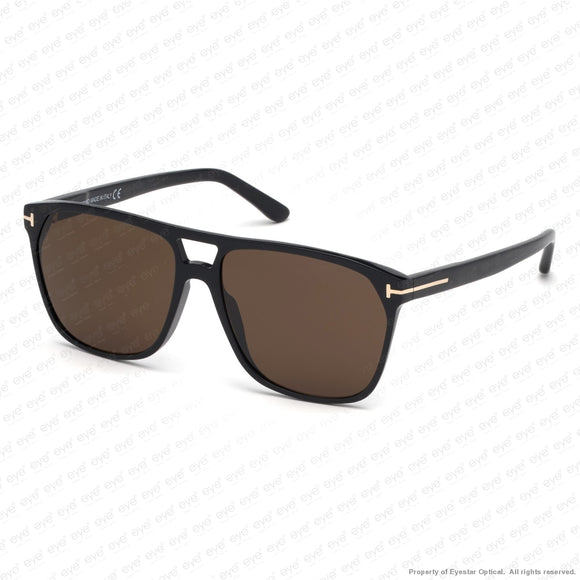 Tom Ford - Shelton Ft0679 Shiny Black/brown (01E) Sunglasses