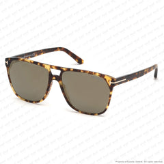 Tom Ford - Shelton Ft0679 Vintage Havana/smoke Bronze Flash (56C) Sunglasses