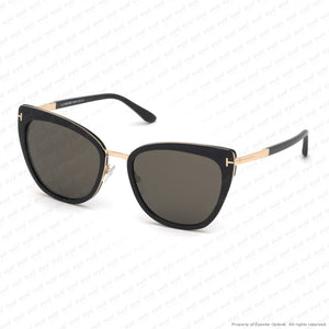 Tom Ford - Simona Ft0717 Black Rose Gold/smoke (01A) Sunglasses