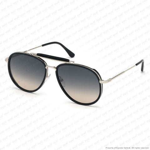 Tom Ford - Tripp Ft0666 Black & Rhodium/grey To Orange Gradient (01B) Sunglasses