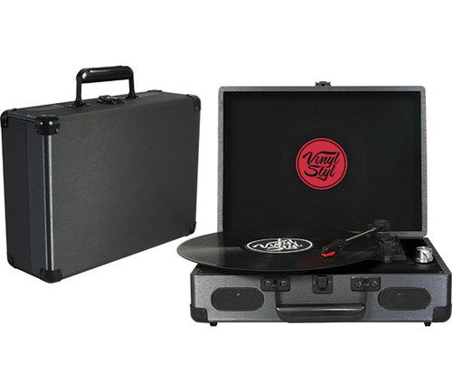 Vinyl Styl™ Groove Portable 3 Speed Turntable (Graphite)