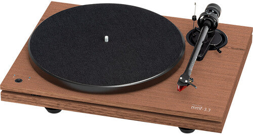 Music Hall Audio mmf-3.3se Dual-Plinth Belt Drive 3 speed TurntableW/ ortofon 2M red cartridge Walnut