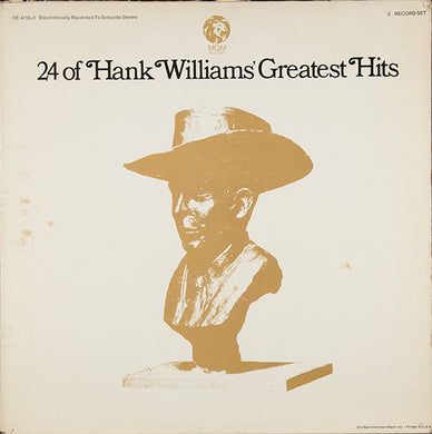 Hank Williams - 24 of Hand Williams' Greatest Hits - Pre-owned Vinyl