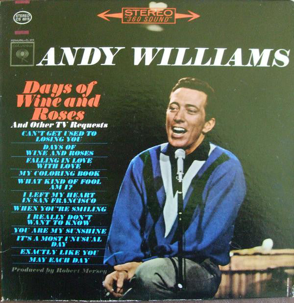 Andy Williams - Days of Wine and Roses - Pre-owned Vinyl