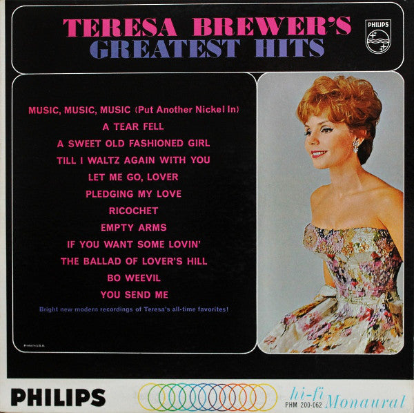 Teresa Brewer - Teresa Brewer's Greatest Hits - Pre-owned Vinyl