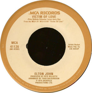 Elton John - Victim of Love 45 RPM - Pre-owned Vinyl - Covert Vinyl