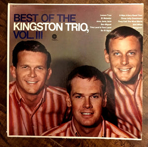 Kingston Trio, The - Best of the Kingston Trio, Vol. III - Pre-owned Vinyl