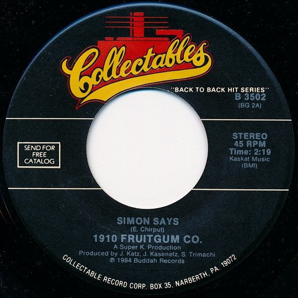 1929 Fruitgum Co. - Simon Says 45 rpm - Pre-owned Vinyl - Covert Vinyl